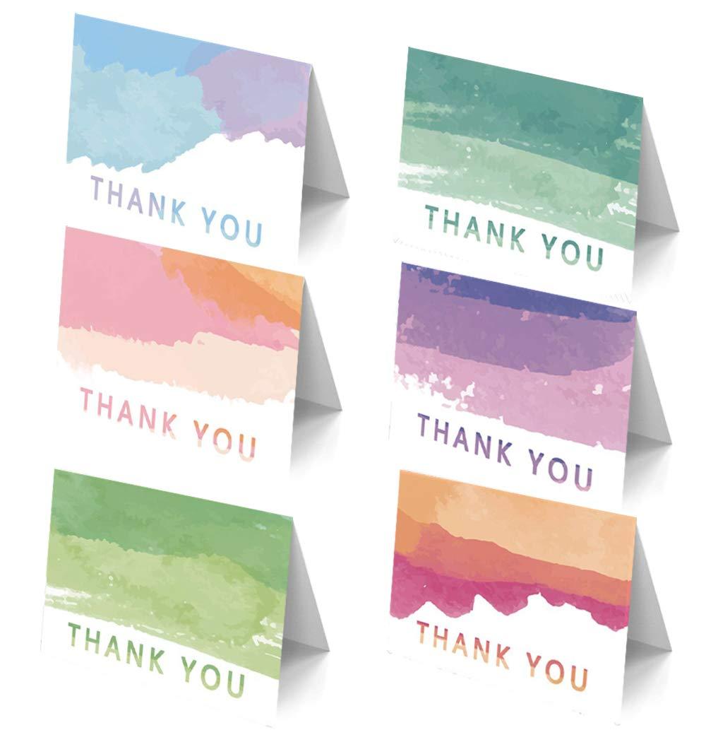 Premium Basic Thank You Cards assortment Bulk for Business 50 card boxed set