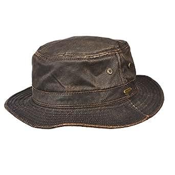 STETSON WEATHERD COTTON BUCKET HAT (L) at Amazon Men's ...