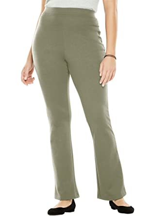 Womens Plus Size Tall Pants Boot Cut In Ponte Knit At Amazon