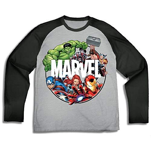 Marvel Boys Comics Splatter Tees - Spiderman, The Avengers, and Hulk Graphic tees (Grey/Black, Large) (The Amazing Spider Man Long Sleeve Shirt)