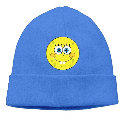 [Sponge Baby Smiley Face Men Skull Cap Stretch Logo Print Classic Toboggan Hat] (Smiley Movie Mask)