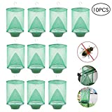 Ranch Fly Trap, Womdee Insects Trap Outdoor Fly Catcher Cage with Food Bait