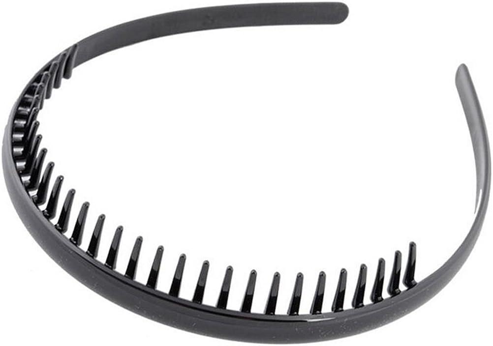 Männer Toothed Sport Fußball-Stirnband-Haar-Band schwarz tragbares GeschenR.jx