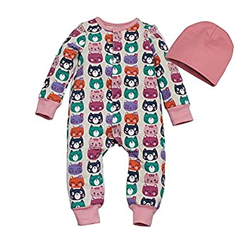 Kadambaby- Winter Bodysuit/Newborn Sleepsuit/Bodysuit for Baby boy/Pink Cotton Newborn Sleepsuit with Cap - Cute CAT Baby Boys at amazon