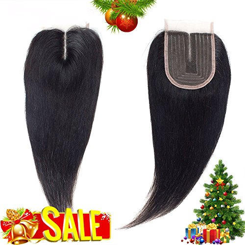 Lace Closure Middle Part Human Hair Straight Brazilian Virgin Hair Unprocessed Human Hair Lace Closure Top Closure (14