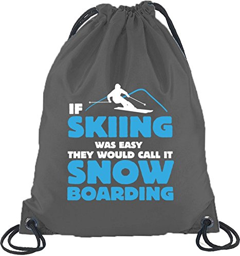 If Skiing Was Easy, Wintersport Snowboard Après Ski Turnbeutel Rucksack Sport Beutel