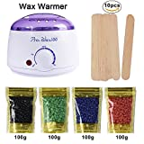 #1: Wax Warmer, Portable Electric Hair Removal Kit for Facial &Bikini Area& Armpit-- Melting Pot Hot Wax Heater accessories Total Body Waxing Spa or Self-waxing Spa in Home For Girls & Women & Men