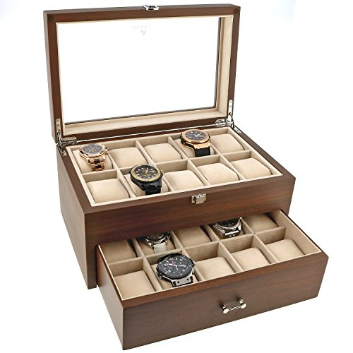 Aevitas Uhrenboxen - Walnuss 20 -