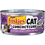 Purina Friskies Cat Concoctions Pate Scrumptious Salmon & Chicken Liver Dinner Adult Wet Cat Food – (24) 5.5 Oz. Cans