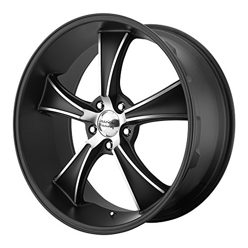 American Racing VN805 Blvd Satin Black Wheel with Machined Accents (22x11