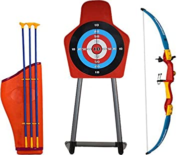Buy Bow And Arrow Archery Set With Target Stand Quiver 3 Suction Cup Arrows For Kids Ages 3 Years Online At Low Prices In India Amazon In If a player pierces themselves with the arrow, they will obtain a stand. amazon in