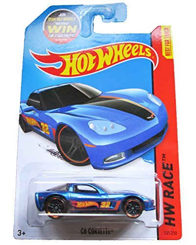 Hot Wheels 2015 HW Race C6 Corvette (Martin Arriola) 131/250, Blue