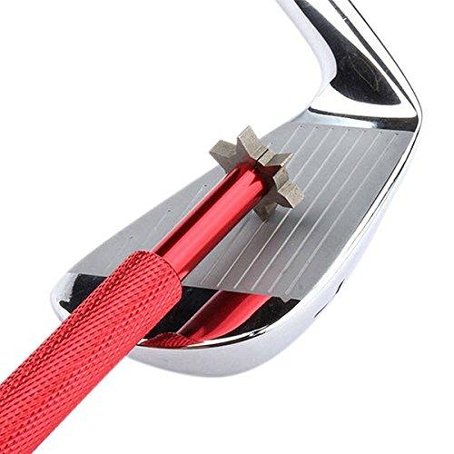 LEORXゴルフクラブ溝削り器ツールwith 6カッター  レッド B01HTO13RS