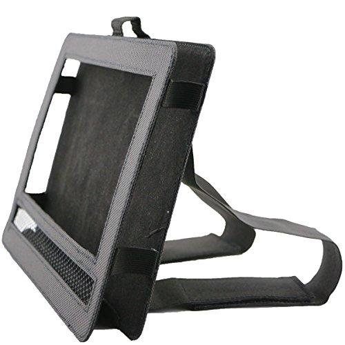 Car DVD Player Holder, Portable RevoLity 7-10.5 Inch Car DVD Headrest Mount Holder Strap Case Color Black (7-7.5 Inch)