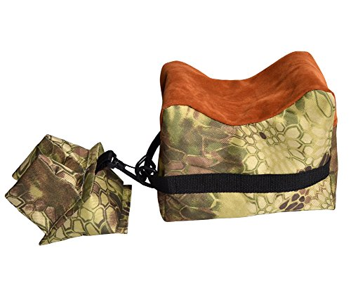 Target Shooting Bench (Nachvorn Outdoor Shooting Rest Bag - Target Sports Bench Unfilled Front & Rear Support Bags For Shooting Hunting Photography, Python)
