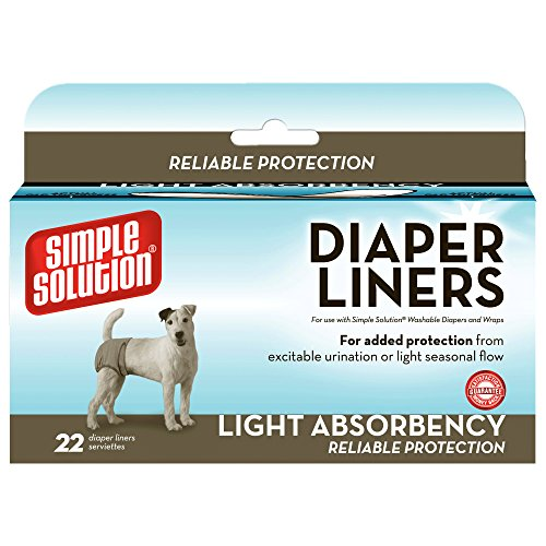 Dog Heat Diaper - Simple Solution Disposable Liners Light Absorbency, 22 Count