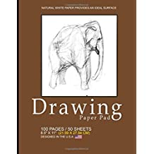 "Drawing Paper Pad: Blank Drawing Pad Notepad, 8.5"" x 11"" (21.59 x 27.94 cm), 100 pages, 50 sheets, Soft Durable Matte Cover(Brown)"
