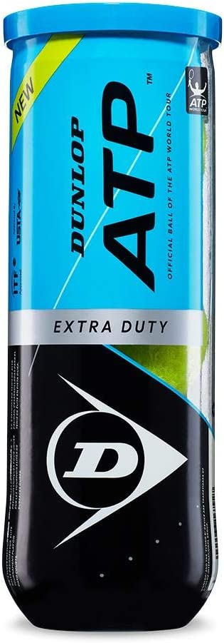 2-24 Cans Available DUNLOP ATP Super Premium Extra Duty Tennis Ball Can 3 Ball Can in Multi-Packs