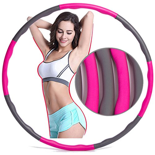 Anyasun Weighted Hula Hoop for Fitness Slimming, Multi-functional Exercise Burning Fat Removable Equipment for Man and Women