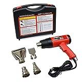 Digital Display Heat Heater Gun Electric Adjustable Temperature Power Hot Air Gun Kit, Cleancesale 1800W 110V Red