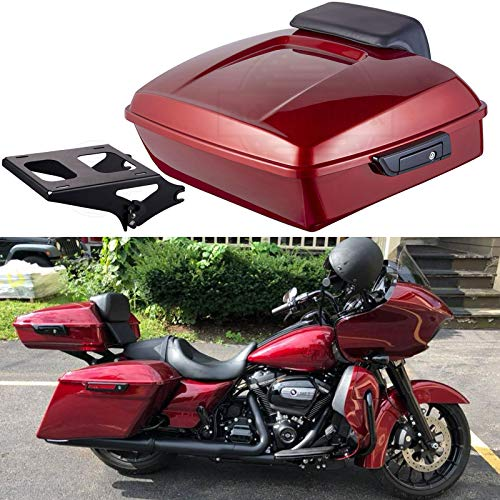 - Wicked Red Chopped Tour Pack Detachable Mounting Rack Tour Pack Pad Fit for Harley Touring Road Glide Street Glide Road King Special 2018 2019