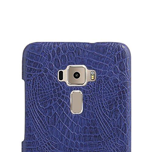 Funda Asus ZenFone 3 ZE552KL 5,5, SunFay Funda Posterior Protector de PC Carcasa Back Cover de Parachoques Piel PU Protectora de Teléfono Para Asus ZenFone 3 ZE552KL 5,5 - Blanco Purpura-azul