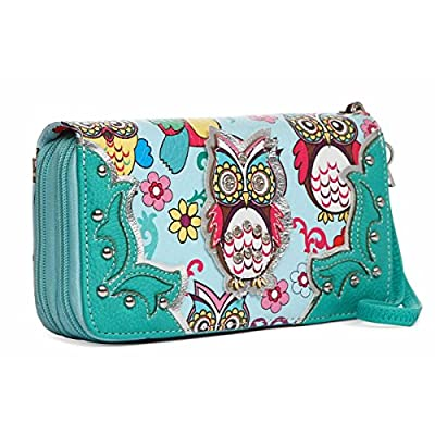 Colorful Owl Spring Western Style Fashion Clutch Purse Women Wristlets Wallet