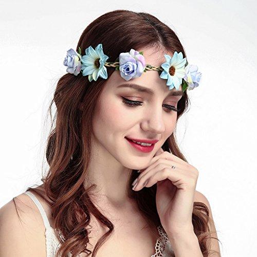 Acmede Floral 4 Photographie 2 De Cheveux Bandeau Plage Pour Style Fleurs Vacances Mariée Mariage Lot Couronne Femme CqCgYpr