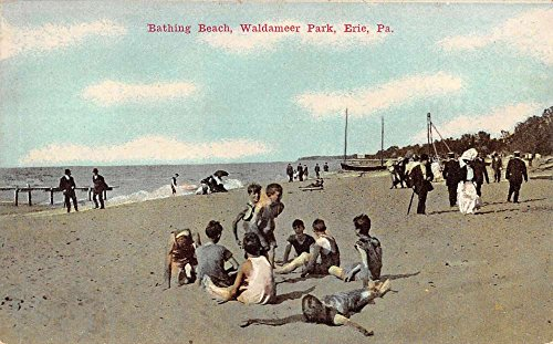 Erie Pennsylvania Waldameer Park Bathing Beach Antique Postcard K78226 (Park Waldameer)