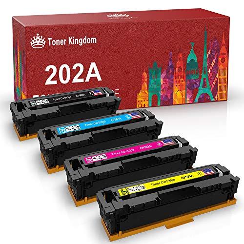 Toner Kingdom M281fdw M254dw Compatible for HP 202A CF500A 202X Toner Cartridge for HP Color Laserjet Pro MFP M281fdw M281cdw M254dw M254dn M254nw M280 M281 CF500A CF501A CF502A CF503A Printer