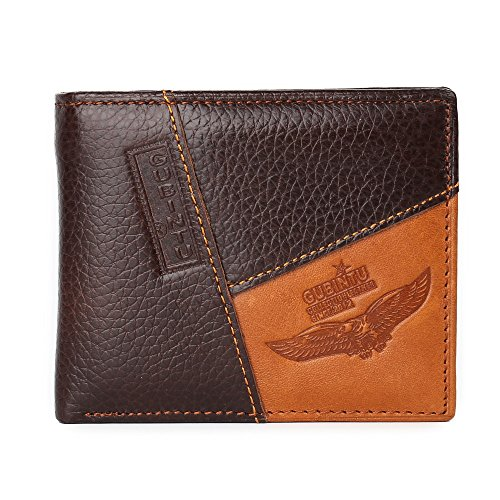 Famous Luxury Brand Genuine Leather Men Wallets Coin Pocket Zipper portfolio cartera (Hawk)