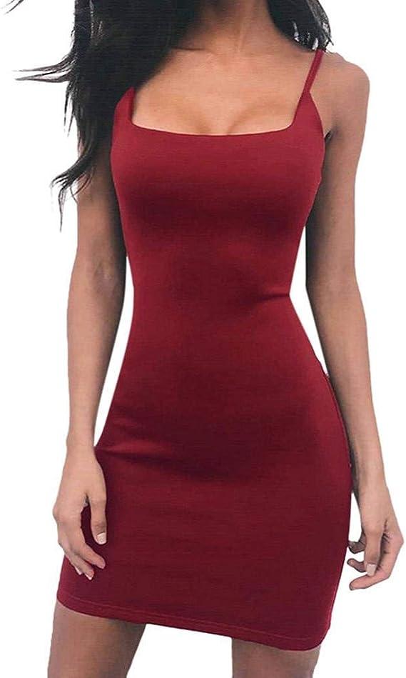SHOBDW Vestidos Mujer Verano Día De San ValentíN Presente Sólido ...