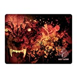 Mouse pad wolf eagle warrior para gamers, ultra delgado