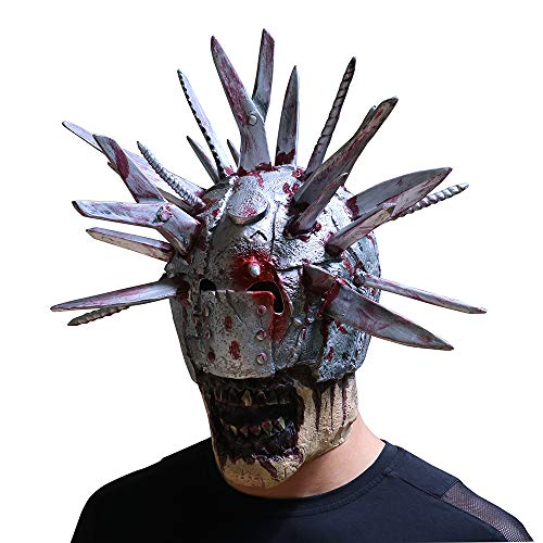 Halloween Horror Mask Blade Man Creative Thriller Gland Latex Skull Whole Ball Party ()