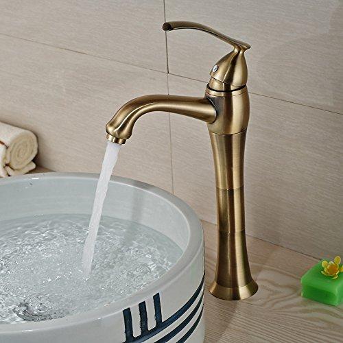 U-Enjoy Antike Bronze Aufsatz- Top-Qualität-Wannen-Hahn Deck Berg Badezimmer Einhand-Hot Cold Water Mischbatterien [Kostenloser Versand]