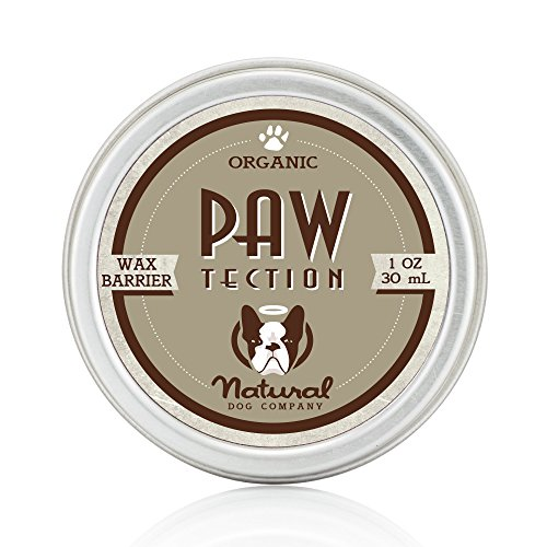 Natural Dog Company - PawTection | Protect Dog's Paw Pads, Perfect for Hot Asphalt, Salt, Snow | Organic, Vegan | 1 Oz Tin