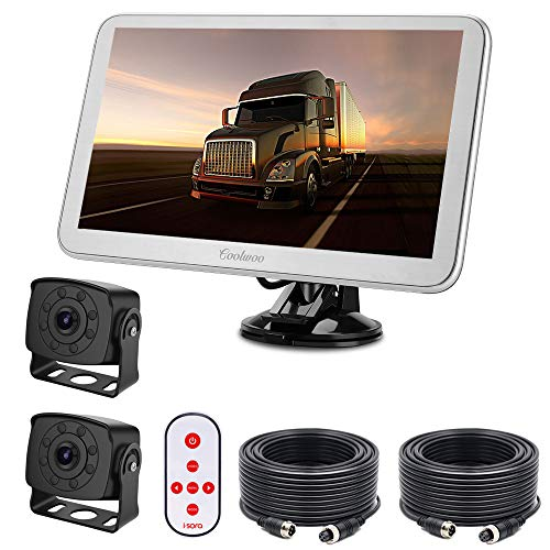 RV Backup Camera System, 9 Split Super Large Monitor 2 Wide Angle HD Small Size Waterproof Rear View Cameras, for Box Truck, Pickup, Bus, Campers, Sprinter, 5th Wheel, Motorhome