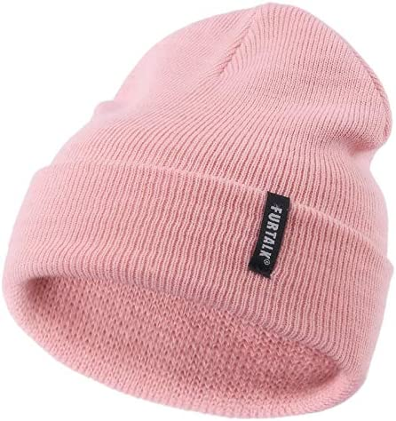 Yamike Min-Ecr-AFT Kids Knitted Hat Thick Soft Warm Slouchy Knit Hat for Toddlers Boys /& Girl Winter Soft Ski Cap Black