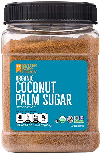 Organic Coconut Palm Sugar, Gluten-Free, Non-GMO Sweetener Substitute (1.5 lbs.) (Best Sugar Replacement For Baking)