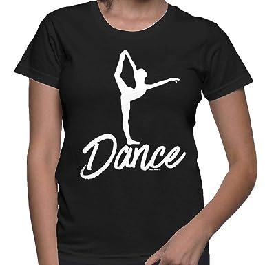 13569e61d Amazon.com  Women s Dance Ballet Silhouette T-Shirt  Clothing