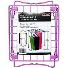 LockerMate It's Academic Stac-A-Shelf 12 Inch Wire Locker Shelf (Lilac)