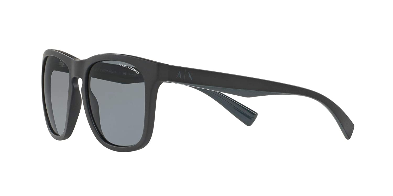 2af7257afdc4 Amazon.com  Armani Exchange Men s 0ax4058s Square Sunglasses matte black  56.0 mm  Clothing