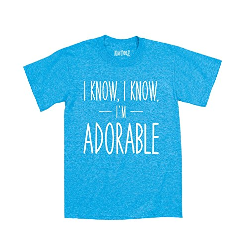 i-know-i-know-im-adorable-funny-humor-kids-cool-hip-urban-novelty-toddler-tee