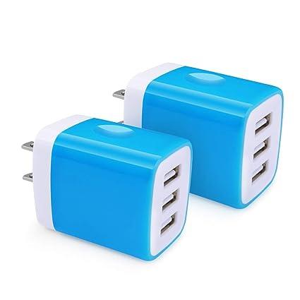Amazon.com: Hootek Cargador de pared USB, 2 unidades, USB ...