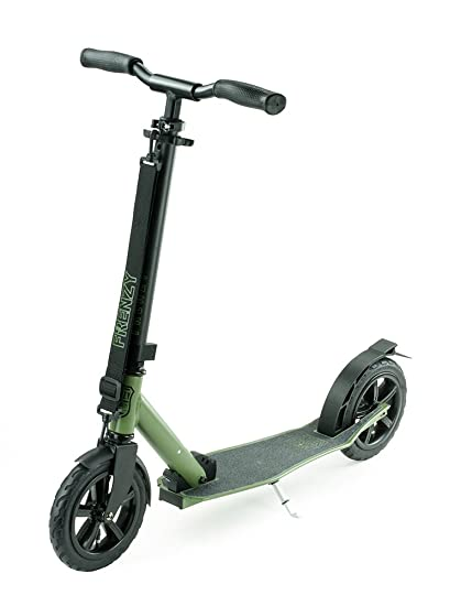 Frenzy Scooters 205mm Pneumatic Folding Scooter, Military ...