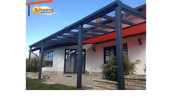 Dosel para terraza de placas de policarbonato de 160 mm, 5 x 3 m ...