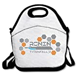 100% Polyester Titanfall 2 Multifunction Reusable Snack Bag Handbag Lunch Tote