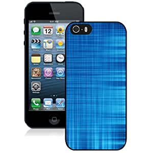 Blue Lines Abstract Hard Plastic iPhone 5 5S Protective Phone Case