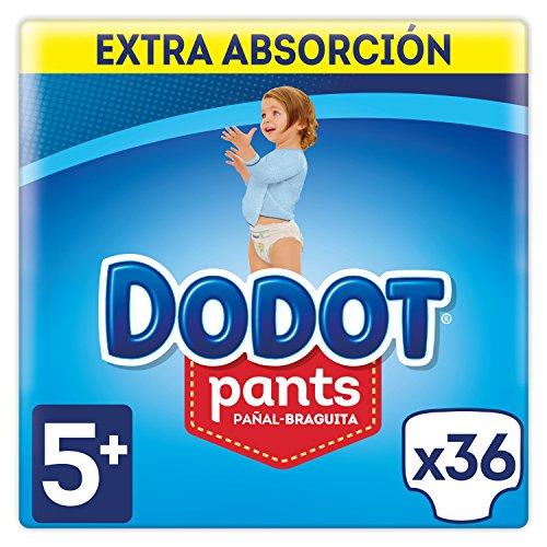 Dodot Pants Extra Pañales, Talla 5 (12-17 kg) - 2 x 36 Pañales: Amazon.es: Salud y cuidado personal