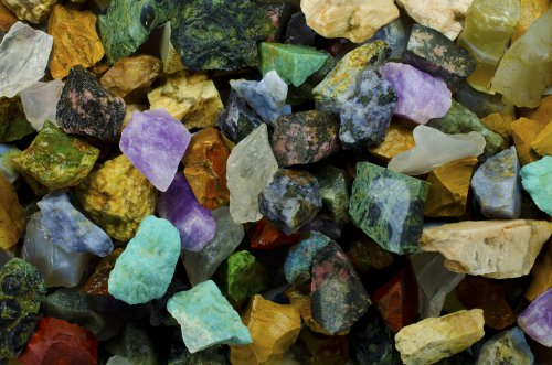 Hypnotic Gems Materials: 6 lbs (BEST VARIETY) of a 26 Stone Extraordinary Mix From Madagascar - 26 Different Stone Types in EVERY bag! Raw Natural Rough Rock Crystals for Tumbling, Cabbing, and More!
